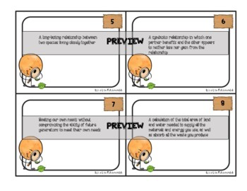 Science Task Cards - Interactions and Ecosystems - SCOOT or Centre