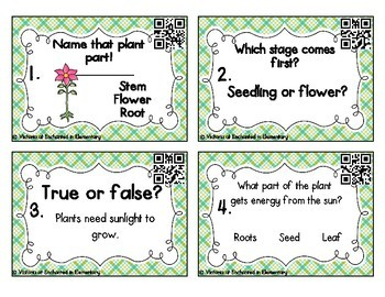 Science Task Cards: Plants Set
