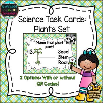 Science Task Cards: Plants Set