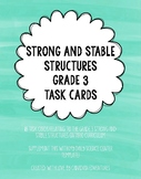 Science Task Cards - Strong and Stable Structures Grade 3!