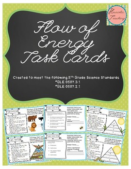 Science Task Cards- The Flow of Energy
