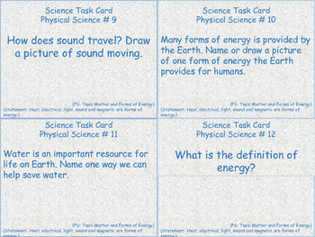 Science Task Cards for 3rd Grade