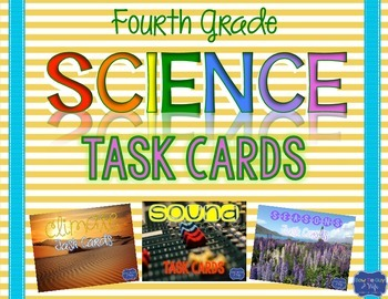 Science Task Cards for Georgia Fourth Grade bundle