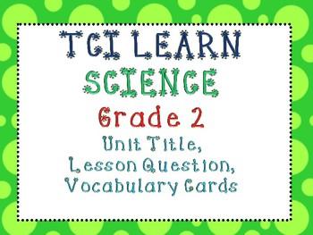 Science Teach TCI Series Grade 2