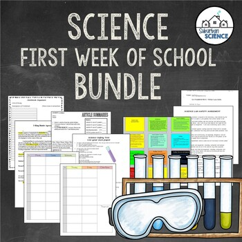(Editable) Science Teacher Back-to-School Bundle for First