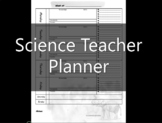 Science Teacher Planner Pages- EDITABLE