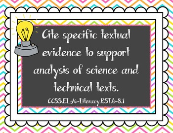 Science & Technical Subjects Common Core Posters {Grades 6-8}