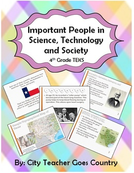 Science, Technology, Society Powerpoint- 4th grade Social