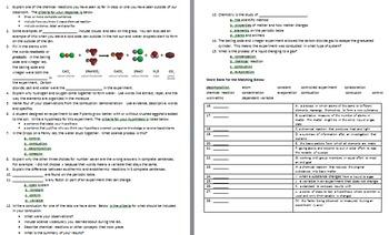 Science Terms for Chemistry Unit Bundle