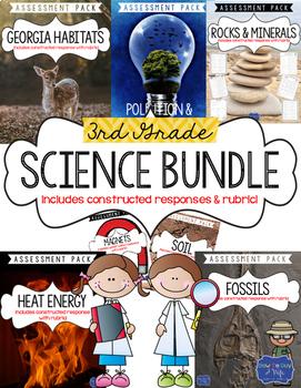 Science Test Bundle for Third Grade