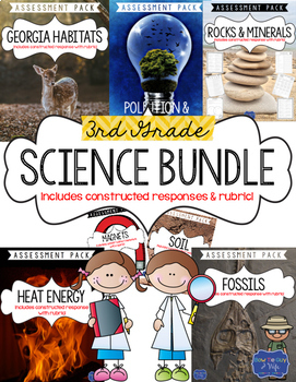 Science Test Bundle for Third Grade