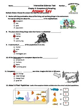 Science Test: Environments & Recycling
