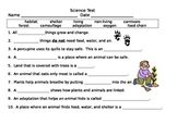 Science Test Forest Living Nonliving