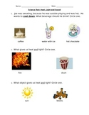 Science Test: Heat, Light and Sound