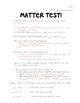 Science Test (Matter)