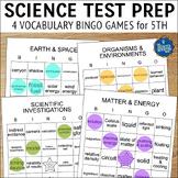 Science Test Prep 5th Grade Vocabulary Bingo