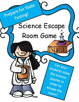 Science Test Review Game: Escape Room Theme