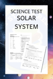 Science Test - Solar System