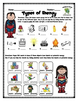 Science Test: Types of Energy