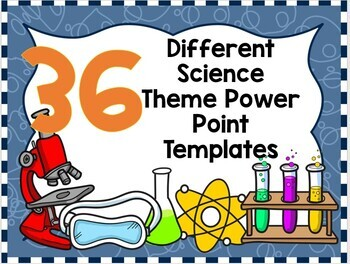 Science Theme Power Point or Google Slide Blank Template for Online Teachers