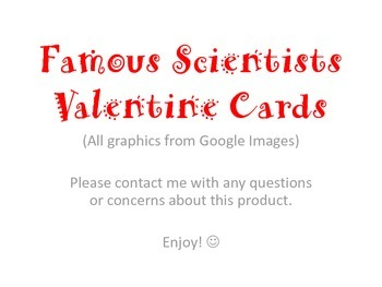 Science Theme Valentine Cards