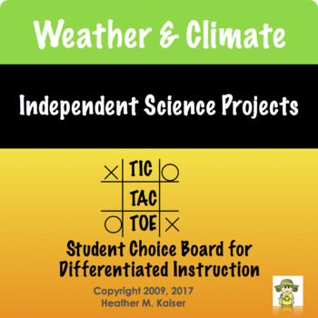 Science Themed Choice Boards Bundle