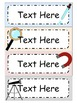 Science Themed Editable Labels
