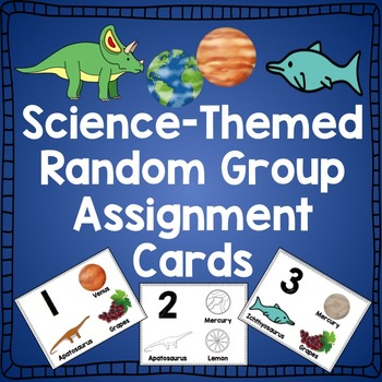 Science-Themed Group Sorting Cards