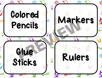 Science-Themed Materials and Seating Labels-BUNDLE!