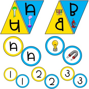 Science Themed Pennant and Circle Banners