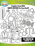 Science Picture Shapes Clipart {Zip-A-Dee-Doo-Dah Designs}