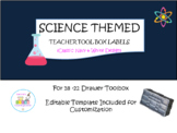 Science Themed Teacher Toolbox Labels