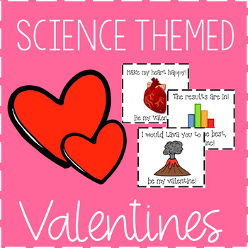Science Themed Valentine's Day Cards