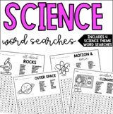 Science Themed Word Searches