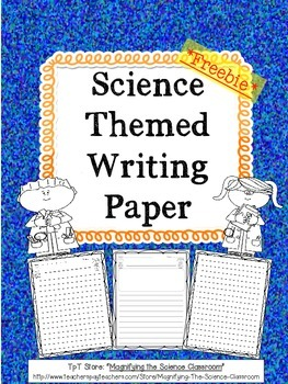 Science Themed Writing Paper