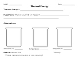 Science Thermal Energy Laboratory/Experiment Worksheet