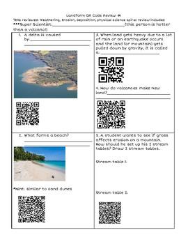 Landform QR Code Review Questions