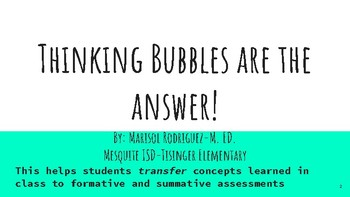 Science Thinking Bubbles Assessment Strategies, Part 1