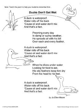 Science Through Literature: Ducks