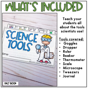 Science Tools Mini-Book: cut and paste booklet and practice pages