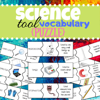 Science Tool Vocabulary / Puzzle Cards / Scavenger Hunt / Interactive Lab  Tour!
