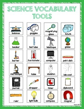 SCIENCE VOCABULARY TOOLS