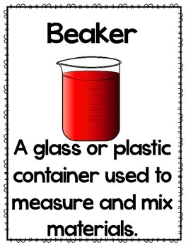 Science Tools - Posters and Flashcards