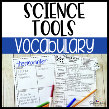 Science Tools Fun Interactive Vocabulary Dice Activity