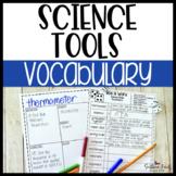 Science Tools Fun Interactive Vocabulary Dice Activity EDITABLE