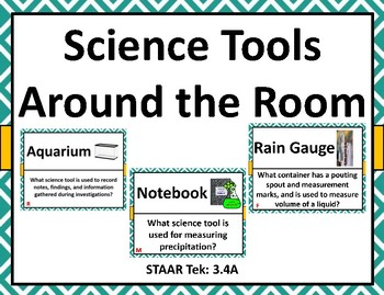 Science Tools Around the Room TEK 3.4A
