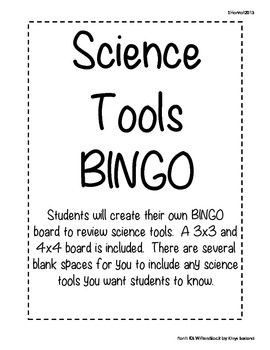 Science Tools BINGO