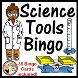 Science Tools Bingo - Whole Group Review Activity w/ 35 Bingo Cards!