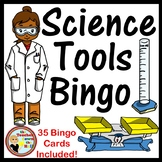 Science Tools Bingo - Whole Group Review Activity w/ 35 Bi