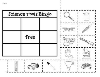 Science Tools *Bingo Game & Tools Cards*